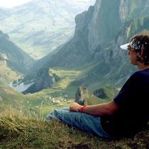 Blick vom Rotsteinpass