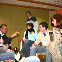 Diskussion im Gruppenraum