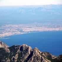 Gipfelblick nach Antalya