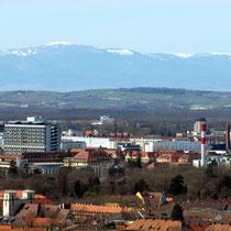 Les Ballons des Vosges über Freiburg