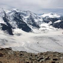 Bernina-Gruppe 1 - Blick von der Diavolezza