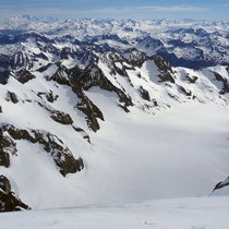 Pelvoux-Ècrins-Gruppe 6 - Blick vom Gipfel des Dôme de Neige des Écrins