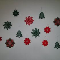 Ornamente, ca. 12 - 15 cm groß