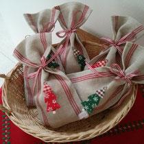 Säckchen aus reinem Leinen, ideal für kleine Geschenke