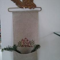 Leinenband weihnachtlich