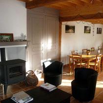 Le salon - Les noisetiers chambres d'hôtes au coeur du val de noye à 15 km au sud d'Amiens