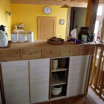 La cuisine - Les noisetiers chambres d'hôtes au coeur du val de noye à 15 km au sud d'Amiens