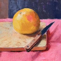 "Portrait of a Grapefruit, Oil, 8x10""-- SOLD"