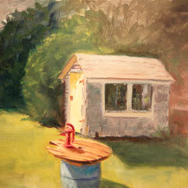 "The Backyard, Oil on Canvas, 12x18"" SOLD"
