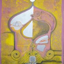 1986, o.T., 56,5 x 76, Acryl auf Aquarell-Papier