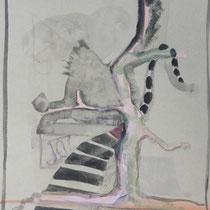 1981, o.T., 50 x 70, Öl auf Ingrespapier