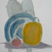 1982, STILLEBEN, 28 x 42, Acryl und Öl