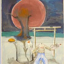 1979, o.T., 59,5 x 80, Aquarell und Öl