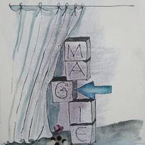 1983, MAGIE, 40 x 49, Tusche und Acryll