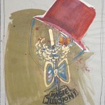 1983, ILLUSION, 48 x63, Acryl und Öl