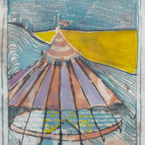 1982, CIRCUS, 20 x 29, Monotypie