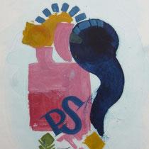 1982, PAUSE, 33 x 40, Acryl