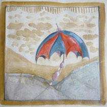 1981, BESTENS GELANDET, 53 x 48, Aquarell