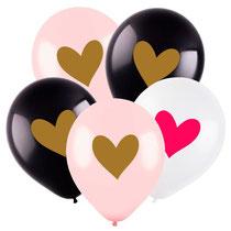 шары с сердечками