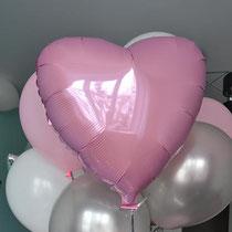 Розовое сердце шар с гелием