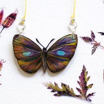 Schmetterlingskette mit handgezeichnetem Schmetterlingsanhänger #03 || Butterflynecklace with hand-drawn butterfly pendant #03