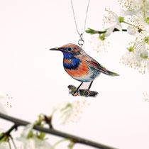 VogelSchmuckFaden • Blaukehlchen Nr. 1 || BirdJewelleryThread • Bluethroat No 1