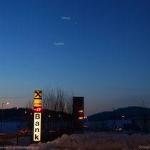 Venus und Jupiter; Schlägl, 07:16 MEZ, 2019 01 20