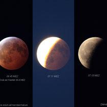Totale Mondfinsternis, partielle Phase nach Ende der Totalität; Diendorf (Schlägl), 06:45 - 07:11 - 07:18 MEZ, 2019 01 21
