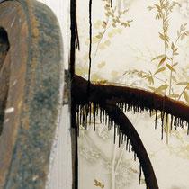 Wohnzimmer 2  Malerei und Installation in Abbruchhaus 2003