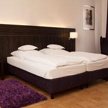 Gemütliches Doppelbett im Fürstenzimmer
