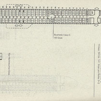 Sitzplan der MD-81 von Swissair mit 40 Business und 87 Economy Class/Courtesy: Swissair