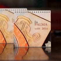 Il calendario In Palma 2014 realizzato dal fotografo artista Alessio Buldrin per l'artista orafo Piero De Martin