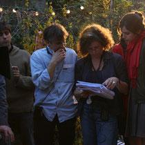 Les acteurs et la scripte