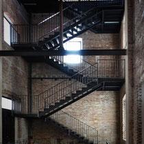 Escalera interior de nueva ejecución_Torre del Agua_Después de la intervención