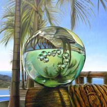 MEMORIA REVERSIBLE. Óleo/tela, 120 x 80 cm. Jorge Luna.
