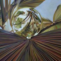 PALMA MARIPOSA. Óleo/tela, 120 x 120 cm. Jorge Luna.