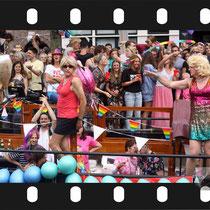 268 Amsterdam Canal Pride 2019 v.a de NH Radio Pride boot 26
