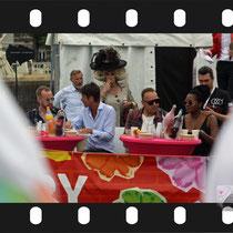 135 Amsterdam Canal Pride 2019 v.a de NH Radio Pride boot 26