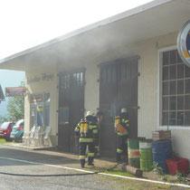 Brandobjekt alte Tankstelle