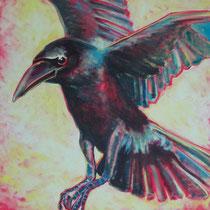 anflug II, 70 x 100 cm, 2014, Acryl auf LW
