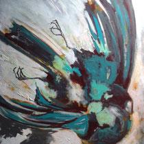 ikarus, 2013, 100 x 120 cm, mischtechnik auf LW, privatbesitz