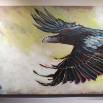 Anflug III, 2014, 160 x 80 cm, Acryl auf LW, Privatbesitz