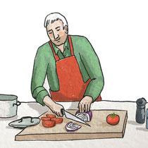 Illustratie voor kookworkshop
