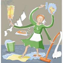 Je schoonmaakster en jij! (Artikel uit de Viva)
