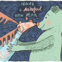 Nieuwjaar's kaart voor alexia-illustraties.nl
