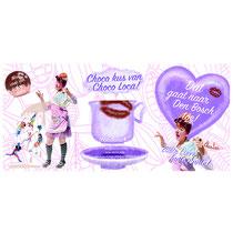 Ontwerp en illustraties flyer Choco Loca