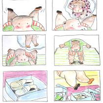 Schetsen voor Sesamstraat animatie voor lied: 'Te Klein'
