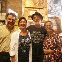 Al FESTIVAL DELLA LETTERATURA RESISTENTE con Paolo Maddonni, Simonetta Filippi,il mitico editore Marcello Baraghini e Clara Rota, Settembre 2014