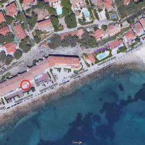 Situation de l'appartement sur la Corniche des Baux