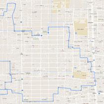 グーグルマップで見るウォーキングコース